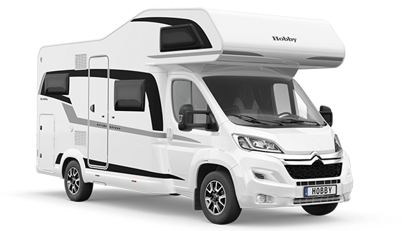 Camper on tour alkoof