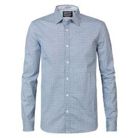 Petrol M-3090-SIL410 heren blouse