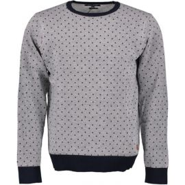 Haze&Finn Knit Dotted White-Darknavy