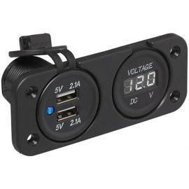 Voltmeter met 2x USB inbouw