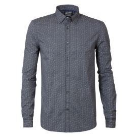 Petrol M-3090-SIL423 heren blouse