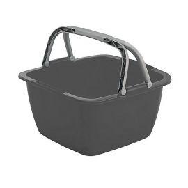 Bo-Camp wasbak vierkant 18,5L grijs
