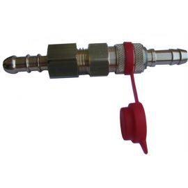 Gimeg snelkoppeling 2x slangtule 8mm