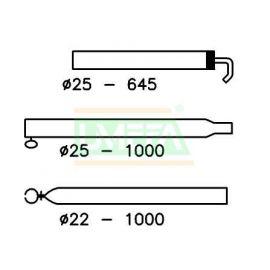 Extra dakligger 25/22 170-250 cm zilver