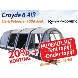 Kampa Dometic Opblaasbare Tunneltent Croyde 6 Air