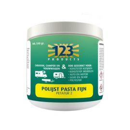 123 Products polijst pasta fijn