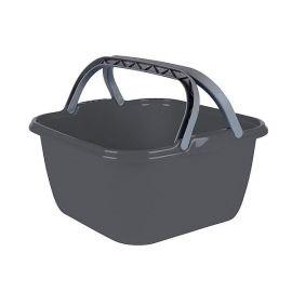 Bo-Camp wasbak vierkant 13L grijs