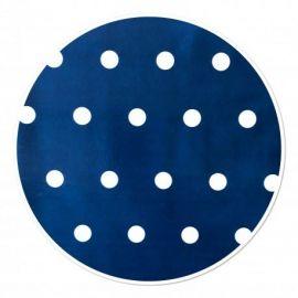 Tafelzeil pvc stip blauw