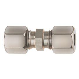 Gimeg rechte knelkoppeling 8 mm X 8 mm
