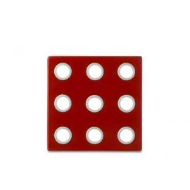 onderzetter domino - luna rood