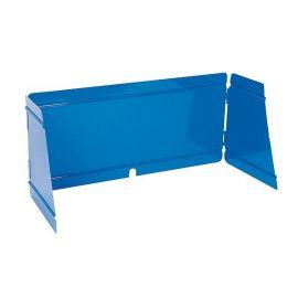 Kookwindscherm staal blauw