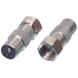 F plug/coax plug