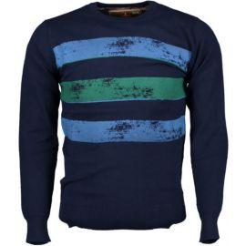 Haze&Finn Knit Fashion Print LGM-Navy-Aubergine-Carnelian