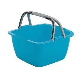 Bo-Camp wasbak vierkant 18,5L blauw