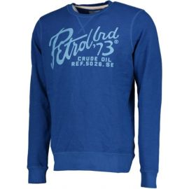 Petrol sweater R-neck heren trui