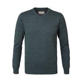 Petrol Knitwear V-Neck heren trui