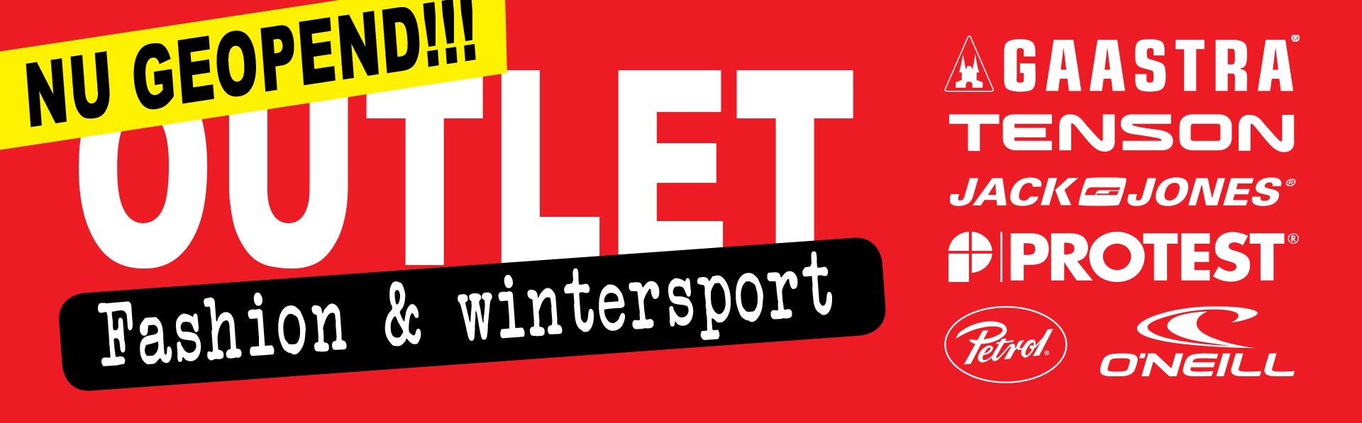 Nu geopend! Outlet Fashion & Wintersport